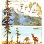 John Clarke Watercolor Linocut